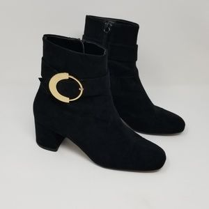 Mango MNG Gold Buckle Boots